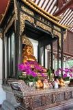 上帝形象在光孝寺在广州 库存图片