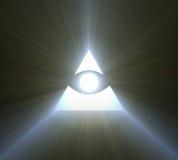 上帝明亮的轻的火光的眼睛 库存照片
