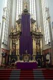 上帝的母亲教会在TÃ ½ n之前的在布拉格 库存图片
