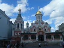 上帝的母亲的喀山象大教堂红场的在莫斯科 免版税库存图片