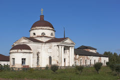 上帝的母亲的喀山象的大教堂在镇Kirillov,沃洛格达州地区 免版税库存图片
