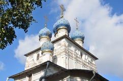 上帝的母亲的喀山象的教会的片段在Kolomenskoye莫斯科 免版税库存照片