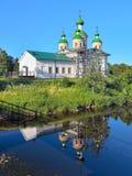 上帝的母亲的斯摩棱斯克象的大教堂在Olonets 免版税库存图片