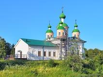 上帝的母亲的斯摩棱斯克象的大教堂在Olonets 库存图片