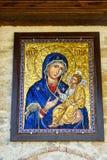 上帝的母亲的象入口的对特罗扬修道院在保加利亚 图库摄影
