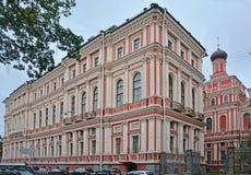 上帝的母亲的象的教会在Nikolaev宫殿的所有追悼的喜悦在圣彼得堡,俄罗斯 库存图片