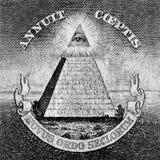 上帝的眼睛一美国美元的 免版税库存照片