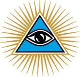 上帝的眼睛-上帝的所有看见的眼睛 库存例证