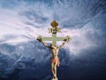 上帝的耶稣基督INRI儿子 库存图片