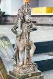 上帝石雕象巴厘语寺庙的,巴厘岛,印度尼西亚 库存图片