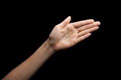 上帝聋的手势语 库存图片