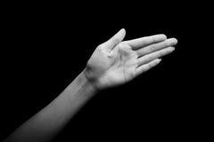 上帝聋的手势语 免版税库存图片