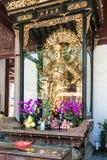 上帝雕塑在光孝寺在广州 免版税库存照片