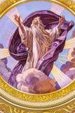 上帝马赛克圆顶圣徒斯蒂芬斯大教堂布达佩斯匈牙利 库存照片