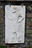 上帝,赫库兰尼姆考古学站点,褶皱藻属,意大利板刻  库存图片