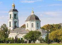 上帝给与生命春天的母亲的寺庙 Tsaritsyno 库存图片