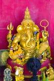 上帝Ganesha金雕塑有大象的头的 免版税库存照片