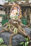 上帝Ganesha,巴厘岛,印度尼西亚法坛  免版税库存照片