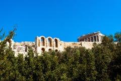 上帝Hephaestus的古希腊寺庙 免版税库存照片