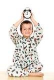 上床时间愉快男孩的概念一点 免版税图库摄影