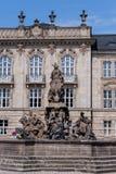 上弗兰肯行政区的政府有边疆伯爵喷泉的 库存照片