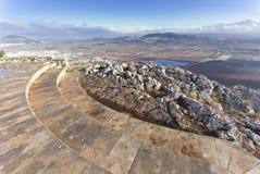 从登上悬崖,拿撒勒,以色列的看法 库存照片