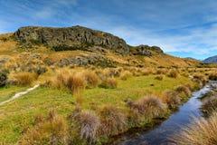 登上星期天,魔戒电影Edoras场面,新西兰的摄制地点 免版税图库摄影