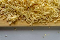 上木的干酪 库存图片