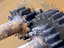 上油的齿轮 库存照片
