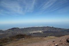 从登上泰德峰的看法在特内里费岛 免版税库存照片