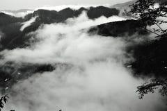 上流在云彩 库存图片