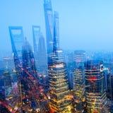 上海两次曝光 免版税库存照片