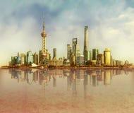 上海中国商业区 免版税图库摄影