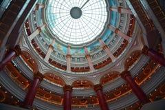 上海全球性港口商城屋顶  免版税图库摄影