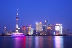 上海在晚上 库存图片