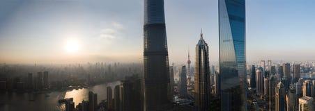 上海地平线全景 免版税库存图片