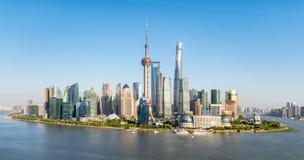 上海地平线全景 免版税图库摄影