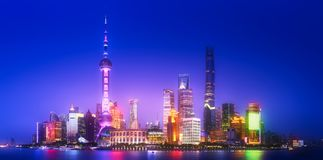 上海地平线都市风景 库存图片