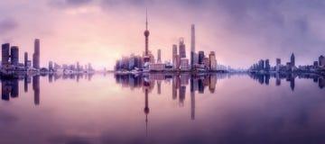 上海地平线都市风景 免版税库存图片