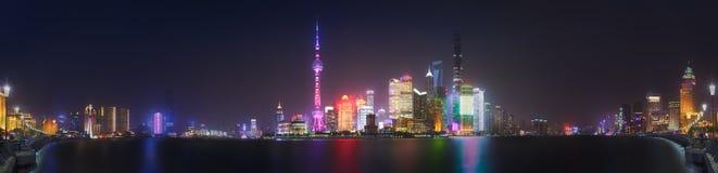 上海地平线都市风景 免版税库存照片