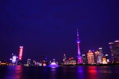 上海夜场面 库存照片