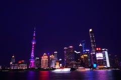上海夜场面 免版税库存照片