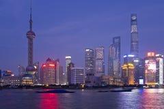 上海夜 免版税图库摄影