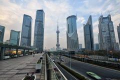 上海市中心  库存照片
