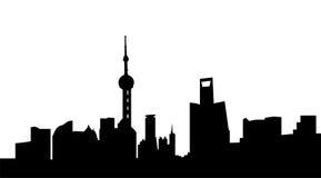 上海市地平线 库存照片