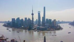 上海市 都市陆家嘴地平线和黄浦江 ?? r 股票录像