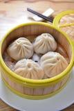 上海汤饺子 图库摄影