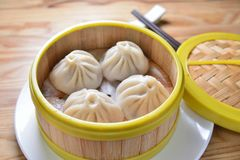 上海汤饺子 库存图片