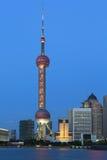 上海浦东lujiazui夜场面 免版税图库摄影