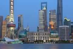 上海浦东lujiazui现代大厦 库存照片